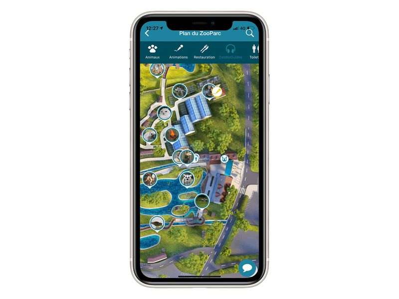 Le plan du parc - Application mobile du ZooParc de Beauval
