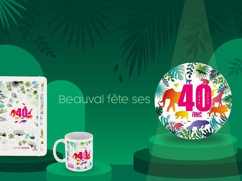Produits boutique anniversaire - 40 ans du ZooParc de Beauval