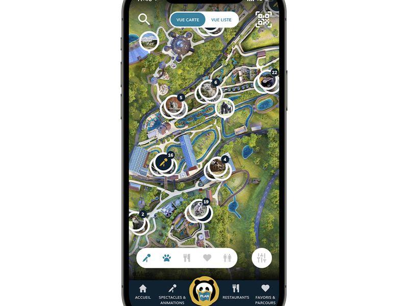Plan - Application mobile du ZooParc de Beauval