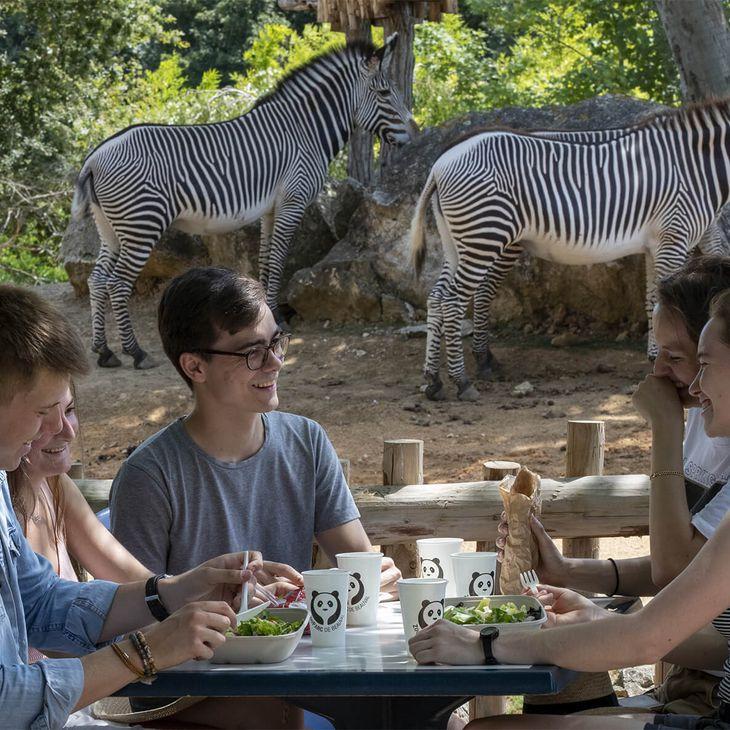 Se restaurer - Restaurant La Savane - Venez visiter les animaux du ZooParc