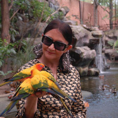 Françoise Delord et ses oiseaux - Fondatrice du ZooParc de Beauval
